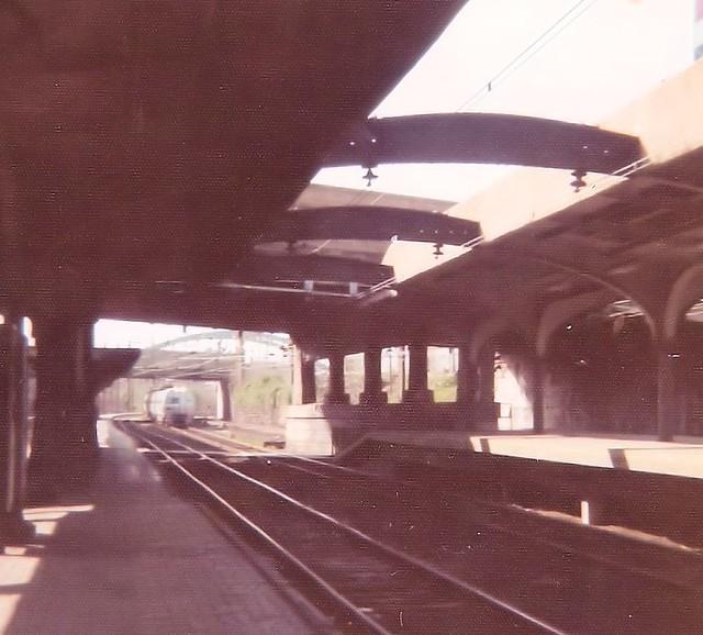 A Penn Central Metroliner arrives in Baltimore