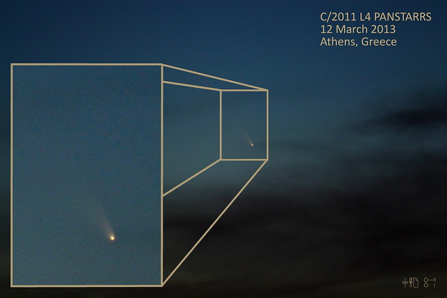 C/2011 L4 Panstarrs over Athens, Greece - 13 March 2013