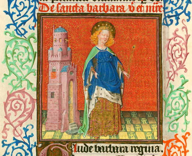 Barbara - NYC Pierpont Morgan Library - Hours of Catharina of Cleves MS M917 pp298-299