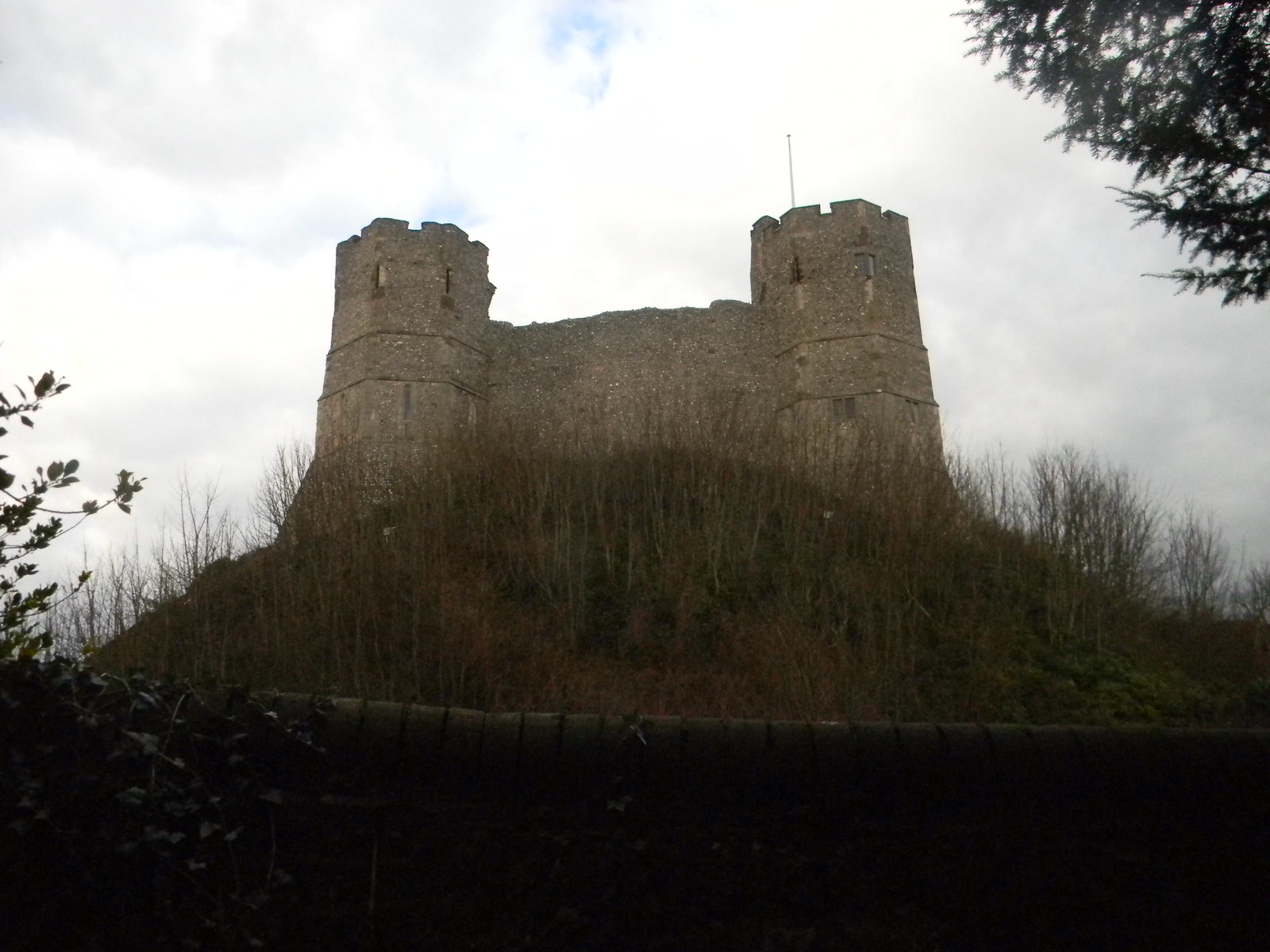 Lewes castle from St Michael's churchyard, Lewes. Hassocks to Lewes