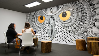Hootsuite Office - Owl Mural   by Hootsuite