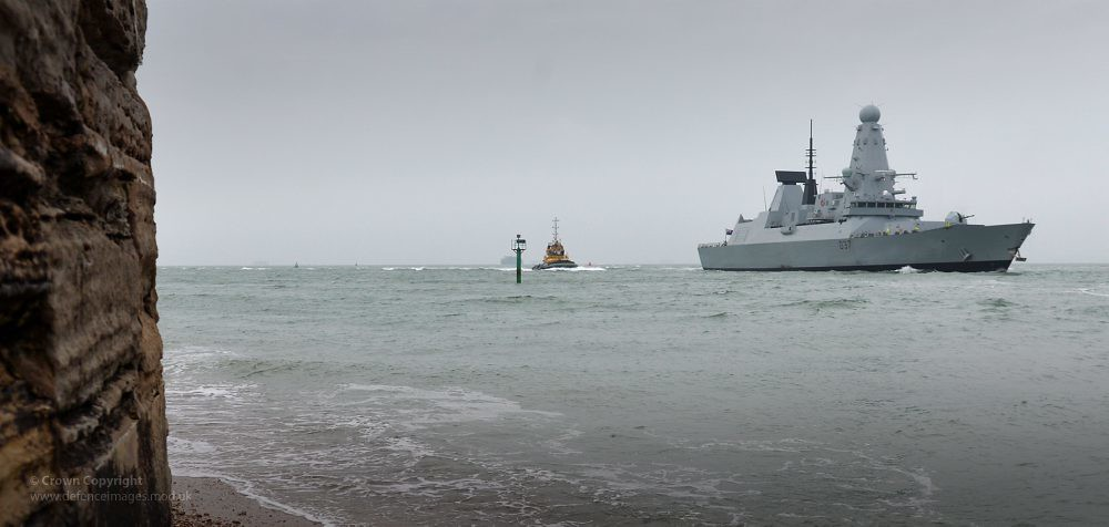 HMS Duncan Arriving in Portsmouth