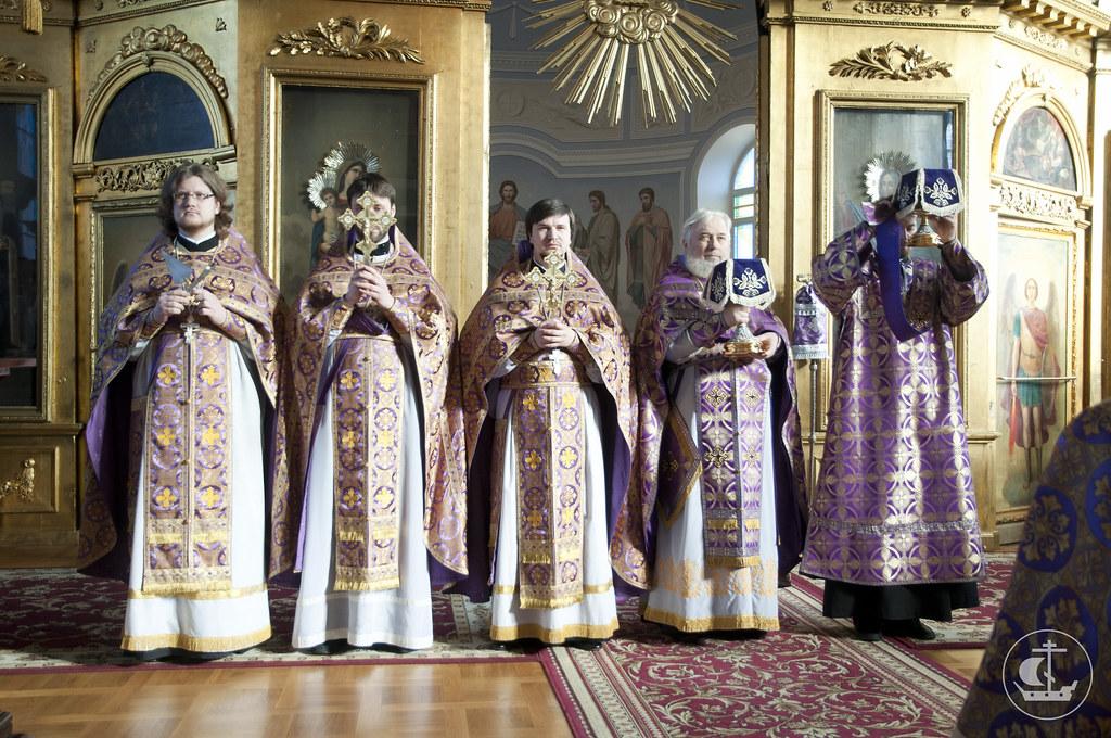 21 апреля 2013, Всенощное бдение и Божественная литургия в неделю 5-ю Великого поста