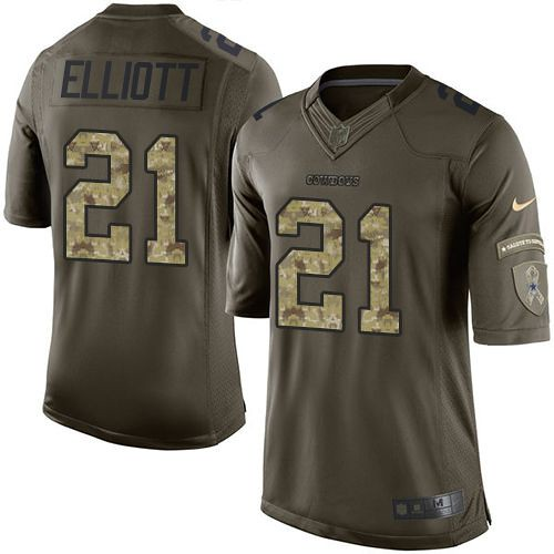 Dallas Cowboys #21 Ezekiel Elliott Green Men's Stitched ch…   Flickr