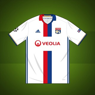 buy popular 8a08c 3cff1 Olympique Lyonnais Champions League home shirt 2016/2017