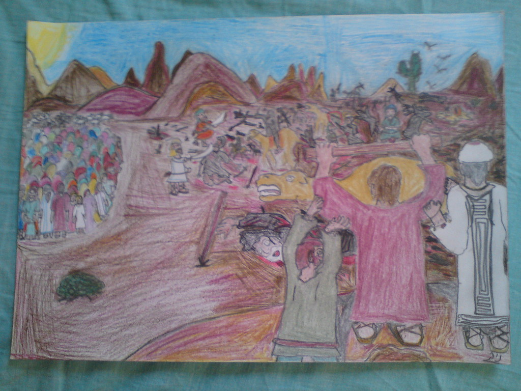 Hebrews_Israelites_Jews History: Israel vs  amalekites in … | Flickr