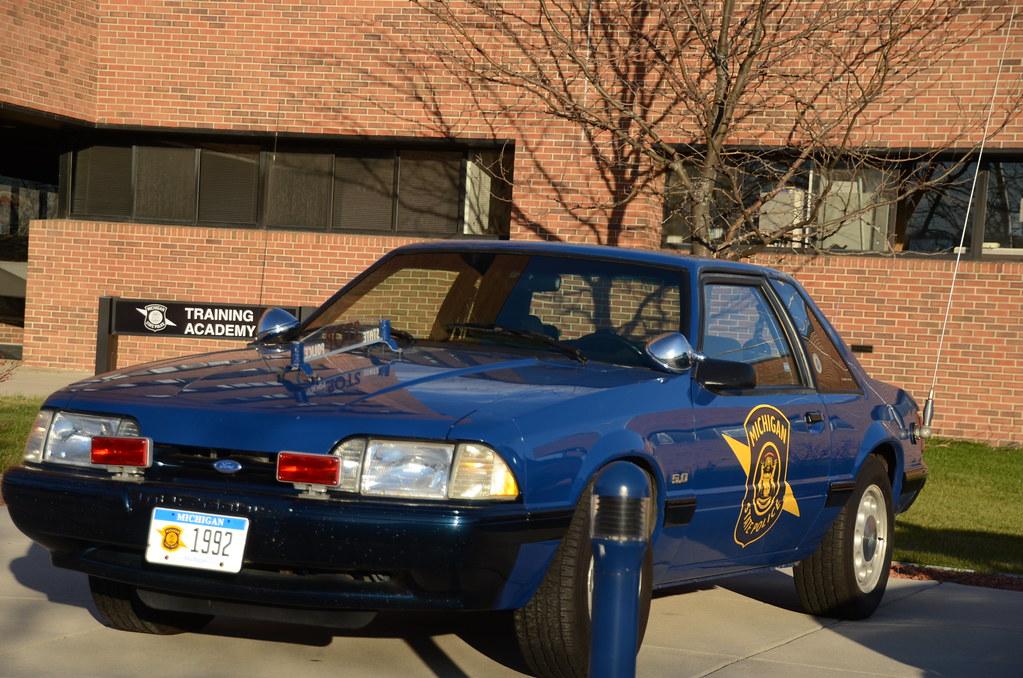 1992 Ford Mustang Michigan State Police car | Michigan State
