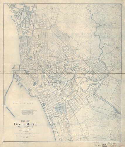Map of Manila, Philippines and vicinity, 1919