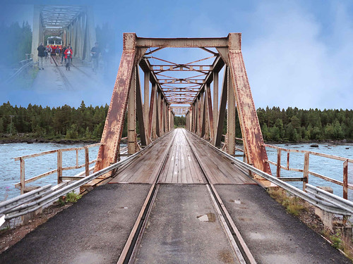 road old railroad bridge wallpaper nature water skyline rural forest landscape photography landscapes countryside photo interesting construction scenery europe view sweden sony schweden country lappland scenic eisenbahn rail railway cybershot swedish line lapland environment nordic sverige bro scandinavia northern paysage landschaft paesaggio suede suecia landskap manzara svezia szwecja järnväg västerbotten inlandsbanan räls piteälven inlandrailway dscw350 piteälvbron