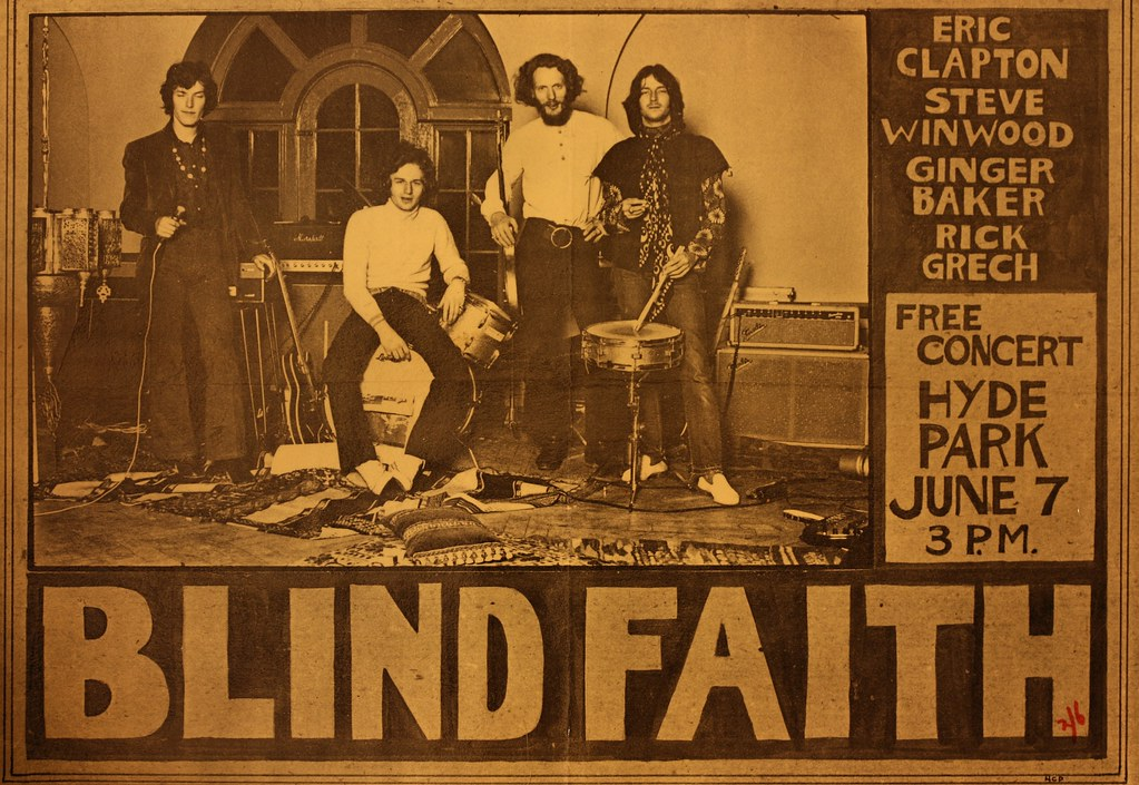 Image result for blind faith hyde park free concerts