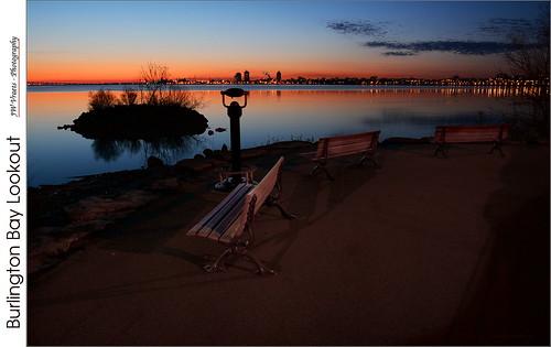 landscape dawn nikon hamilton gimp bluehour benches burlingtonbay d7100 nikkkor18105mmvr