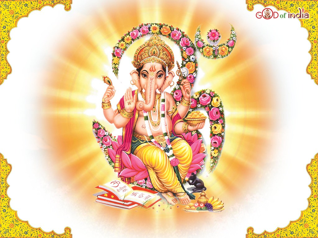 Ganesha With White Background Sitting On Om Gaurav Kumar Flickr