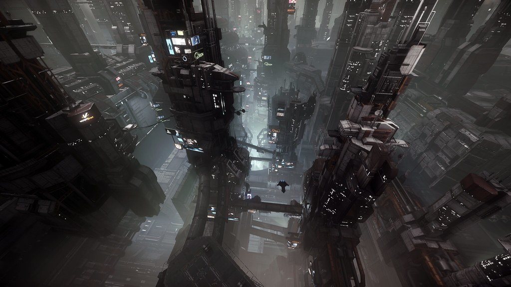 Star Citizen: Penthouse View in Area 18 | In-game ...