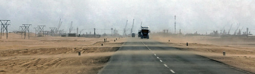 africa road storm cars lens skeleton coast sand industrial view desert wind g sony south poor wide southern alpha namibia 77 slt lenses visibility a77 70400mm