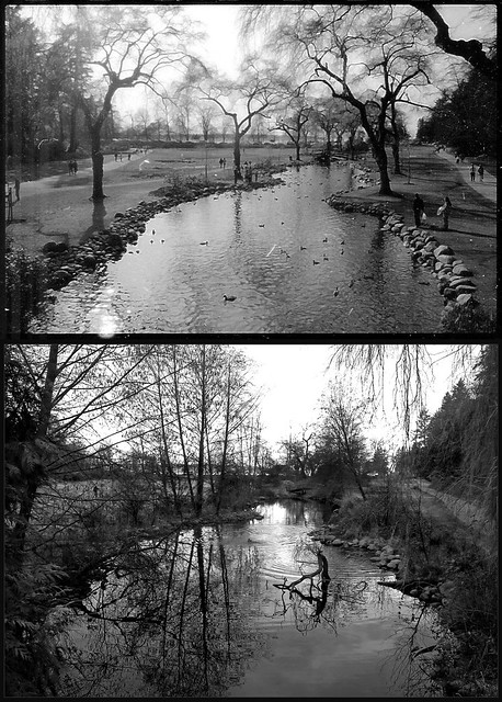Lost Lagoon then and now - 1992 and 2013