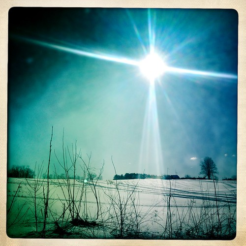 sun snow tree field sunrise lens glare nh flare epping