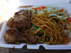 土, 2013-03-30 13:16 - House Special (Rice, 1/4 Chicken, Lo mien, Vegetables)