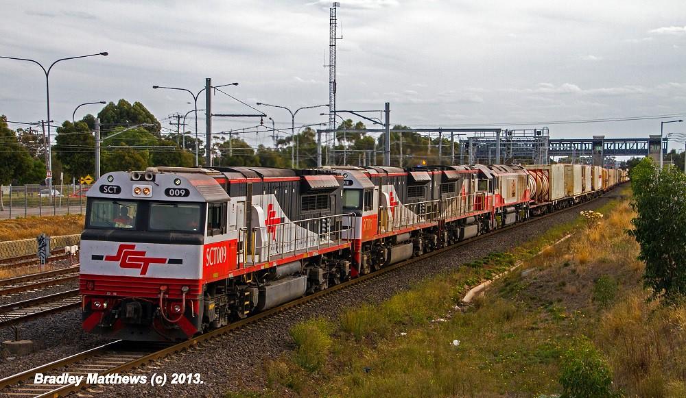 SCT009-SCT011-SCT013-CSR010 on 5PM9 to SCT Laverton at Laverton (21/4/2013) by Bradley Matthews