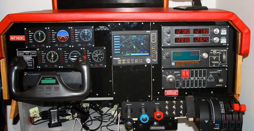 DIY Cockpit Saitek   my home made flight simulator using sai…   Flickr