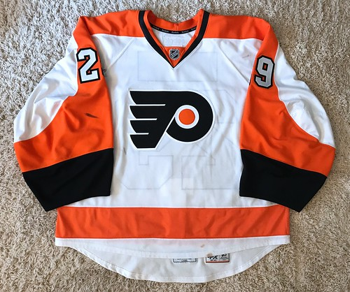 2014-15 Game Worn Ray Emery, Road set 2 | by jsh139