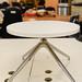 Chrome and white circular coffee table E45