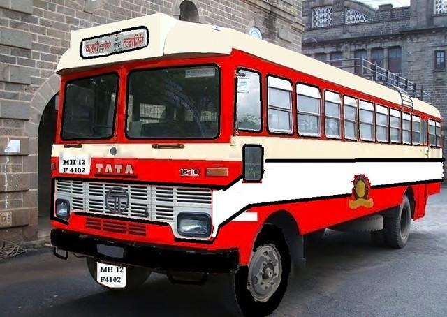 Old MSRTC ST bus Repaint