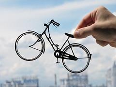 Bicycle Handmade Original Papercut