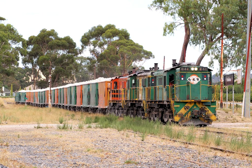 841 843 844 1152s Loaded Penrice Stone Train Nuriootpa 11 03 2013 by Daven Walters
