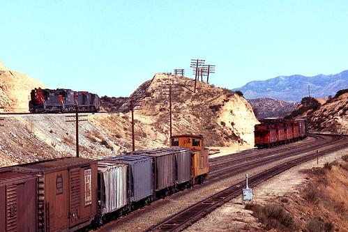 california santafe up trains highland sp summit unionpacific southernpacific espee atsf