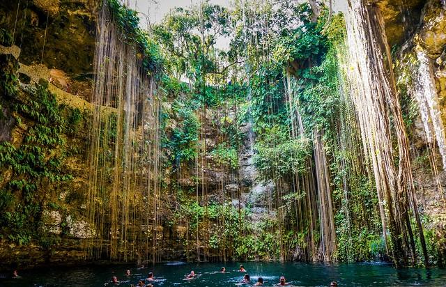 Cenote Ik Kil Yucatan Mexico