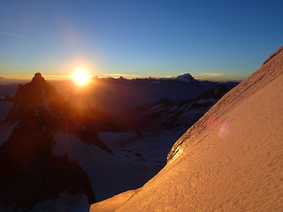 Sunrise from Aiguille du Chardonnet   by Masa Sakano