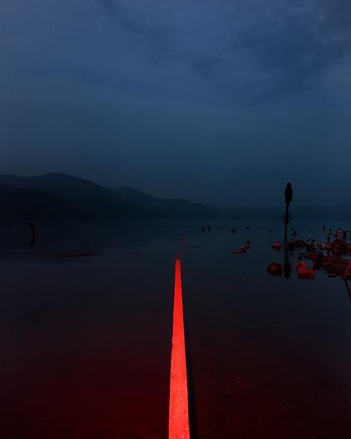 Wall between to land ( now under water) , San Pedro, Lago Atitlan, Guatemala