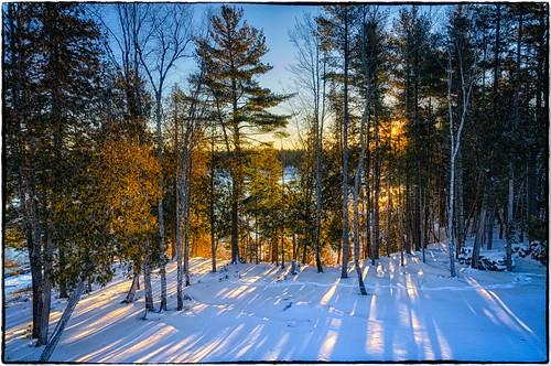 snow weather sunrise maine manipulations hdr highdynamicrange gouldsboro located hancockcounty binnshire