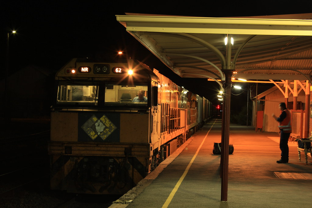 NR62 and NR112 arrive at Dimboola for a crew change on AM5 by bukk05