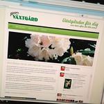 Bürgers Växtgård har äntligen fått en ny hemsida.