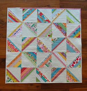 Scrappy Strings Square Quilt
