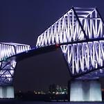 東京ゲートブリッジ 2020年オリンピック・パラリンピック招致特別ライトアップ Tokyo Gate Bridge
