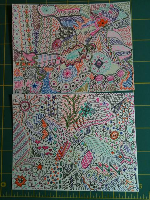 Doodled Postcards