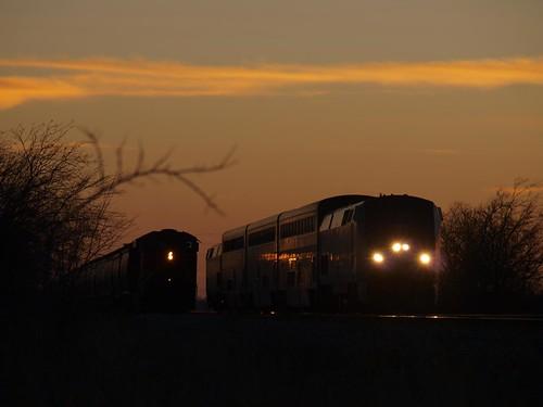 sunset amtrak heartlandflyer