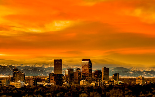 Orange Denver Sunset | by tobyharriman