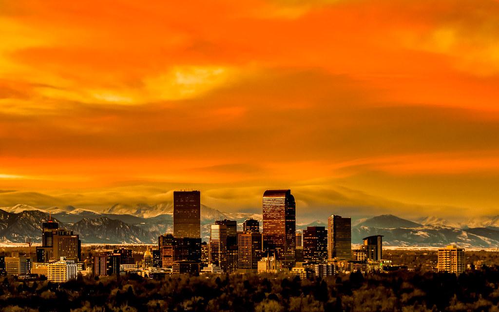 Orange Denver Sunset | I had a school in Denver contact me ...