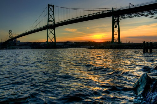 sunset novascotia bracket fieldtrip dartmouth hdr halifaxharbour spc macdonaldbridge
