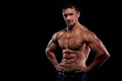 strong athletic man   by LyndaSanchez