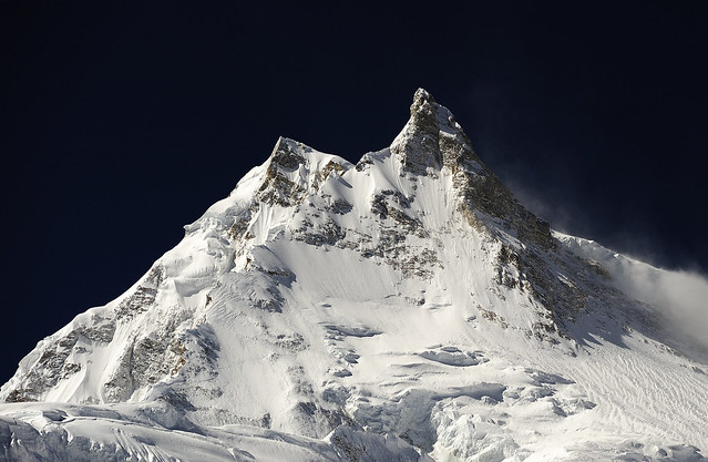 Manaslu (8156 m) close-up, Nepal