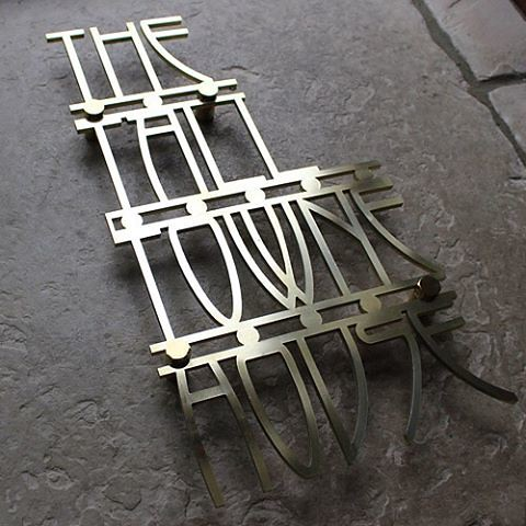 Laser Cut Metal Signs >> Beautiful Laser Cut Metal House Signs In Art Deco Style A Flickr