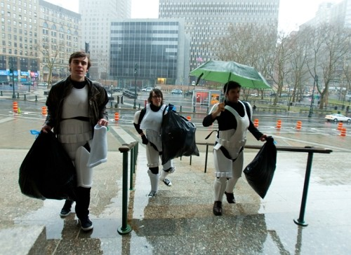 how storm troopers actually show up for work