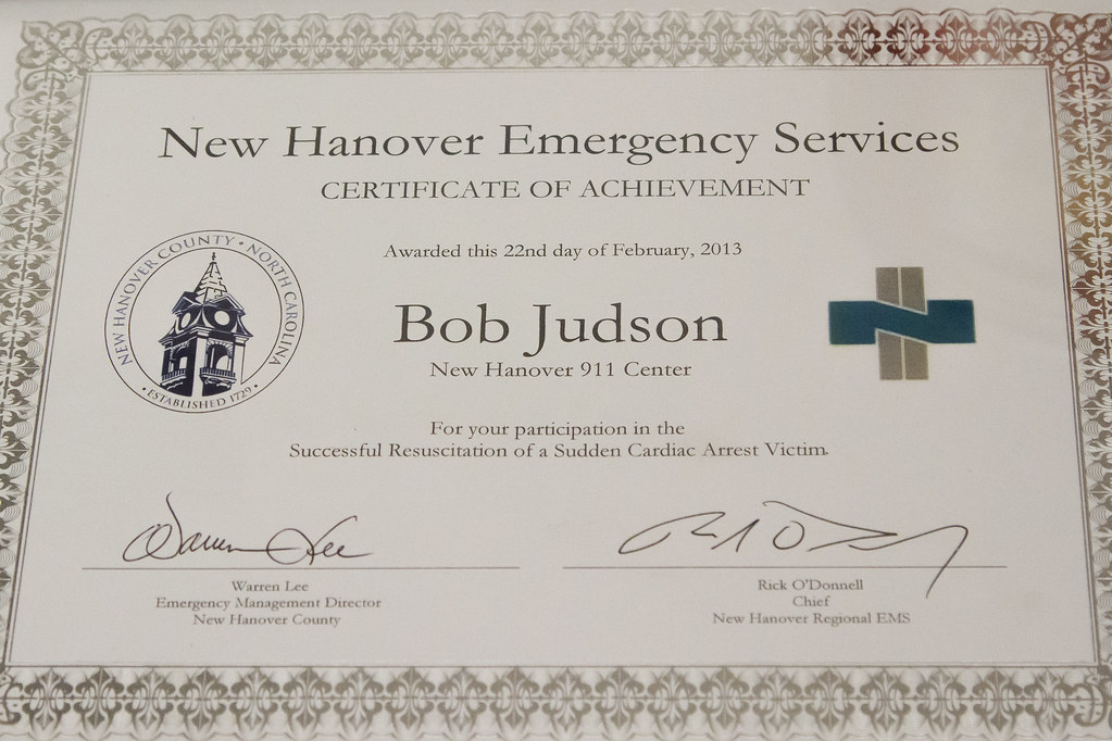 NHC EMS Award Bob Judson 001 | New Hanover County Emergency