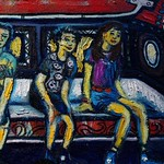 Basketball Coach / Painter Dayong Mendoza's 3rd One-man show, at Blue Gray Gallery