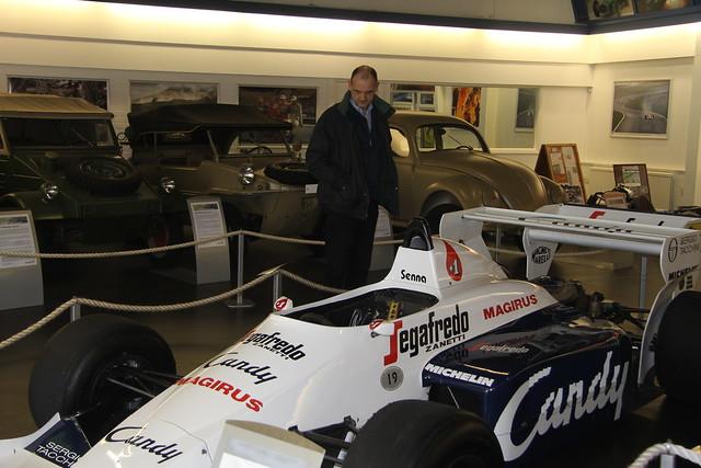 Ayrton Senna's 1984 Toleman F1 car at The Donington Collection