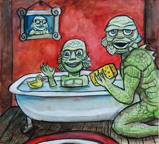 Bath Time   by grfxmonkey